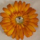 """4"""" Orange Daisy Hair Clip"""
