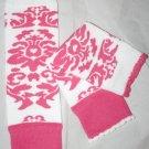 Pink Damask Leg Warmers