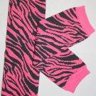 Hot Pink Zebra Leg Warmers