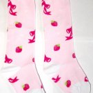 Girly Knee High Socks - Strawberries and Bows