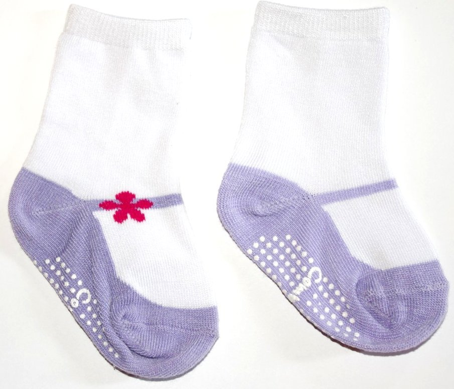 Lavender Mary Jane Socks
