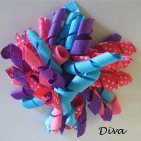 "4"" Fluffy Korker Clip -DIVA HOT PINK, TURQUOISE & PURPLE"