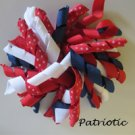 "4"" Fluffy Korker Clip - FOURTH OF JULY"