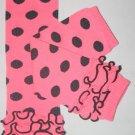 Pink with Black Polka Dot Ruffled Leg Warmers