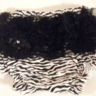 Zebra with Black Ruffle Bottom Bloomers