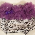 Zebra with Purple Ruffle Bottom Bloomers