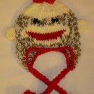 Crochet Sock Monkey Winter Hat