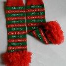 Christmas Leg Warmers with Red Chiffon Ruffles