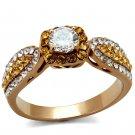 TK2250 Stainless Steel IP Rose Gold Women AAA Grade CZ Ring