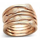 LOA899 - Rose Gold Brass Ring with No Stone