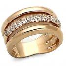 LOA900 Brass Rose Gold Women AAA Grade CZ Ring
