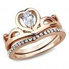 TK3518 Stainless Steel IP Rose Gold Women AAA Grade CZ Ring