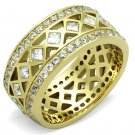 TK1558 IP Gold Stainless Steel AAA Grade CZ Anniversary Ring