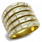 TK2362 IP Gold Stainless Steel Top Grade Crystal Eternity Ring