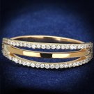 TS587 Rose Gold 925 Sterling Silver Ring AAA Grade CZ Eternity Ring