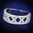 TS354 Rhodium 925 Sterling Silver AAA Grade CZ Eternity Ring