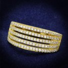 TS254 Gold 925 Sterling Silver AAA Grade CZ Eternity Ring