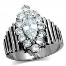 TK1517 High polished Stainless Steel AAA Grade CZ Marquise Ring