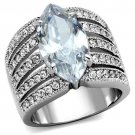 TK1752 High polished Stainless Steel AAA CZ Marquise Ring