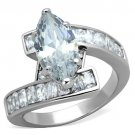 TK1754 High polished Stainless Steel AAA Grade CZ Marquise Ring