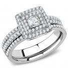 DA064 High polished Stainless Steel Ring CZ Davano Collection