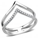 DA308 Stainless Steel Ring AAA Grade CZ Davano Collection