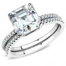 DA065 High polished Stainless Steel Ring Cubic Davano Collection