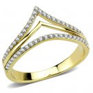 DA250 IP Gold Stainless Steel CZ Ring Davano Collection
