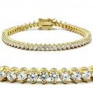 47104 - Gold Brass Bracelet AAA Grade CZ Tennis Bracelet