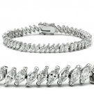 47106 - Rhodium Brass Bracelet AAA Grade CZ Tennis Bracelet