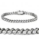 47203 - Rhodium Brass Bracelet AAA Grade CZ Tennis Bracelet