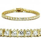 47205 Gold Brass Bracelet AAA Grade CZ Tennis Bracelet