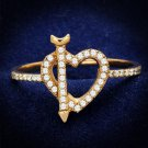 TS281 Rose Gold 925 Sterling Silver AAA Grade CZ Heart Ring