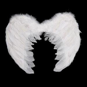 Angel Baby White Feather Wings Fairy Costume Props Medium A0227