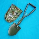 3in1 Pick Camping Folding Foldable Spade Shovel /w Case A0009