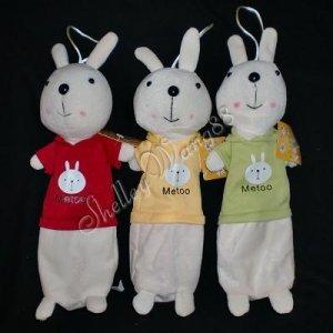 Cute Metoo Rabbit Plush Pencil Bag Case Cosmetic Box 10003