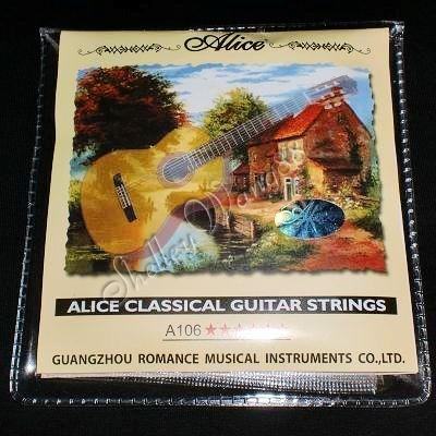 Alice A106 Classical Acoustic Guitar Nylon Steel Strings Set 10145