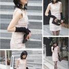Korea womens fingerless Long Gloves Arm Warmers Black 10265