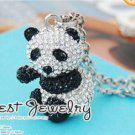 Korean Fashion Lovely panda Sweater Chain Necklace Pendant 10307