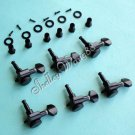 Locking Tuners Tuning Pegs Machine Heads Fits Fender,6 Right Handed Inline, Black, NEW!(6R) A0379