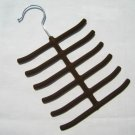 Brown Tie Hanger Rack Organizer Hold Up to 12 Ties YL001-3