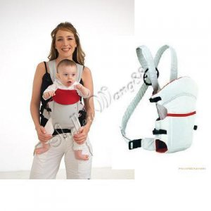 New Fashion Baby Carrier Cotton Infant 3 Positions Front & Back Backpack Grey A0049