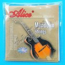 New Alice Mandolin Strings Set Silver-Plated AM04 A0313
