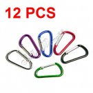 12x Aluminum Carabiner Camp Snap Hook Keychain Hiking YL021