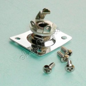 Curved Square Style Plate Guitar Bass 1/4 Output Input Jack For LP/SG/Telecaster A0533