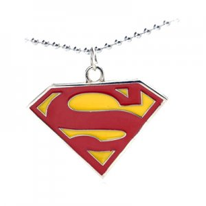 New Pendant Necklace Free Chain Superman Chest Logo Red  YL999