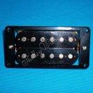 BLACK DOUBLE COIL ELEC GUITAR BRIDGE PICKUP Humbucker + FRAME 10157
