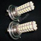 2x 80 SMD H4 Car Vehicle LED Fog Light Bulbs White 12V 10076