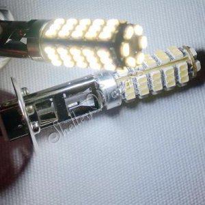 2x 66 SMD H1 Car Vehicle LED Fog Light Bulb Super White 10068