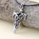Men Stainless Steel Pendant Gothic Cross Necklace Black YL1001